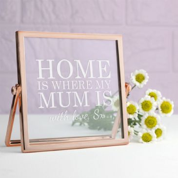 Engraved Home is Mum Rose Gold Frame